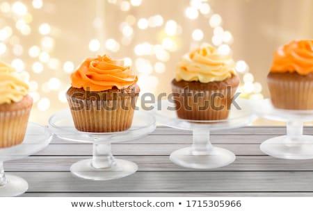 Minitorta cukrászda áll étel sütemény édesség Stock fotó © dolgachov