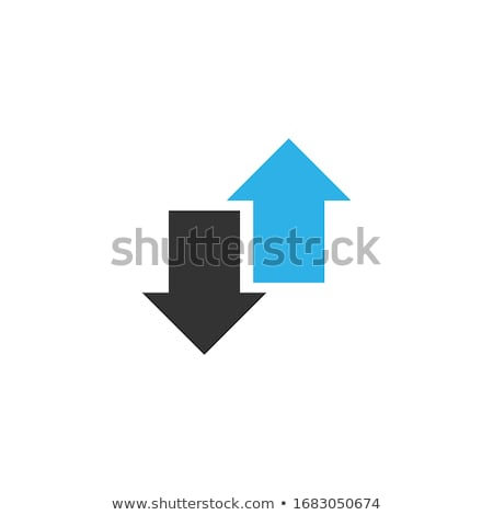 Two connected circle opposite arrows. Stock Vector illustration isolated on white background. Stock photo © kyryloff