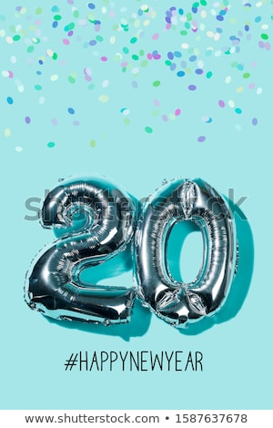number 20 and hashtag happynewyear Stock photo © nito