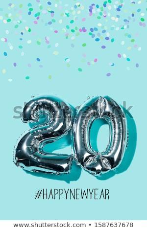 Numara 20 konfeti iki balonlar yılbaşı Stok fotoğraf © nito