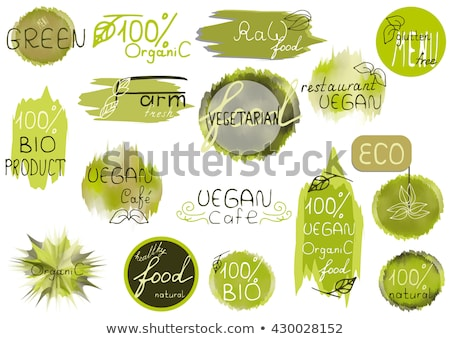 lose weight with fresh organic logo Stock photo © krustovin