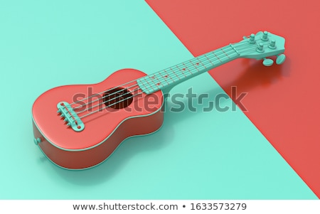 Green soprano ukulele 3D Stock photo © djmilic