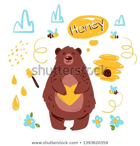 Cartoon Vector Doodles Honey Colorful Funny Illustration Foto d'archivio © curiosity