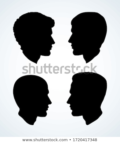 Balding Man Profile Icon Vector Outline Illustration Stock photo © pikepicture
