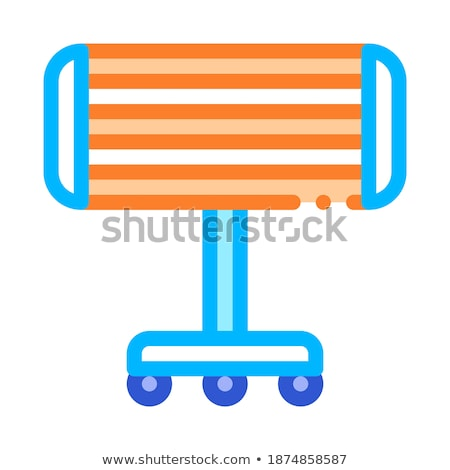 Draagbaar verwarming vector icon dun Stockfoto © pikepicture