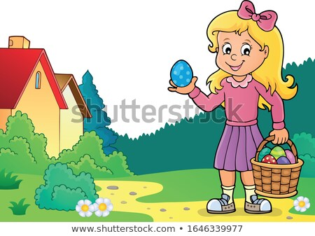 Girl with Easter eggs theme image 3 Stock photo © clairev