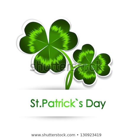 Greeting background of shamrocks to St.Patrick's Day. Stock photo © artjazz