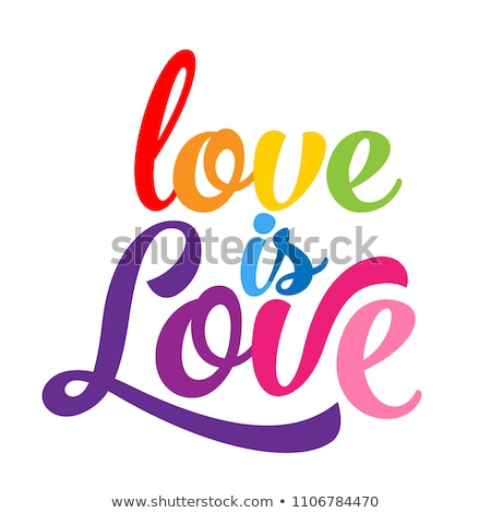 Stoppen haat kleurrijk regenboog vector poster Stockfoto © beaubelle