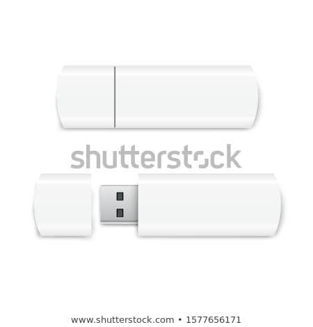 Usb flash drive 3d ilustracji odizolowany biały pióro Zdjęcia stock © montego
