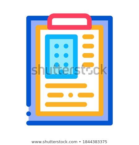 Becslés ház információ ikon vektor skicc Stock fotó © pikepicture