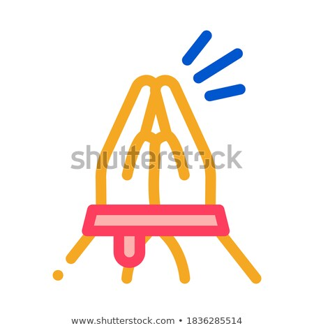 tied hands asking for help icon vector outline illustration Stock photo © pikepicture