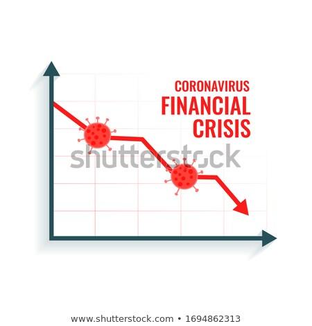 coronavirus scare global market downfall crisis background Stock photo © SArts