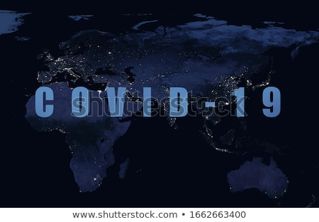coronavirus global spread banner with text space Stock photo © SArts