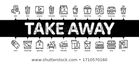 Take Away Food And Drink Minimal Infographic Banner Vector Stock photo © pikepicture