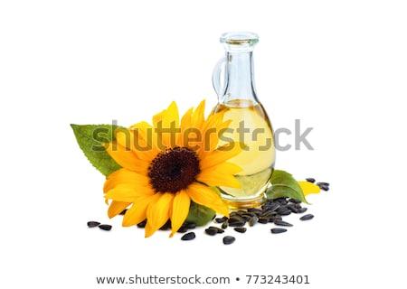 óleo de girassol garrafa girassol folha Óleo cozinhar Foto stock © joker