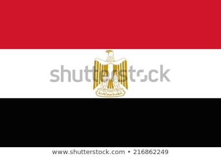 Egyiptom zászló fehér háttér Afrika zenekar Stock fotó © butenkow