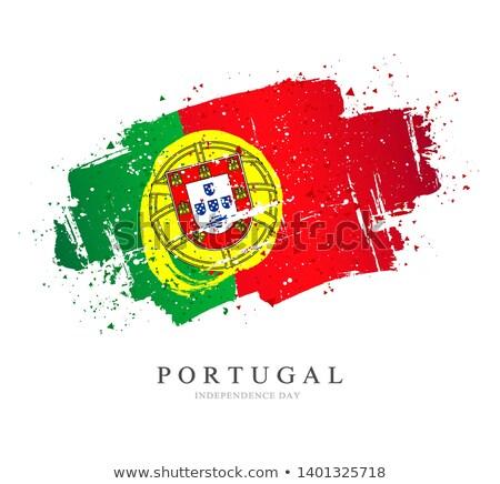 Portugal bandeira mão branco coração fundo Foto stock © butenkow