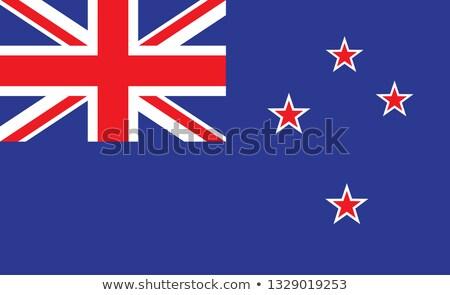 Nova Zelândia bandeira mão branco liberdade ilha Foto stock © butenkow