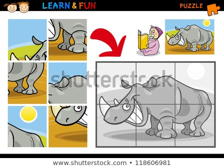 Educaţie puzzle joc copii amuzant Imagine de stoc © natali_brill