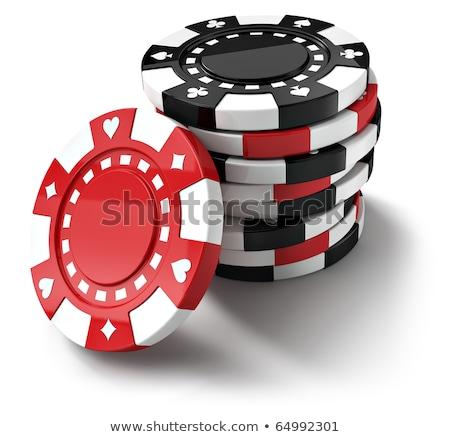 Casino chips waarde gokken geld spelen vector Stockfoto © robuart