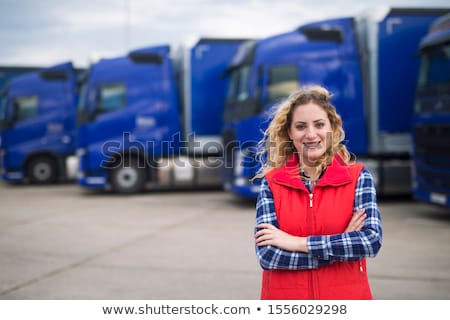 Blonde Woman truckdriver Stock photo © rcarner