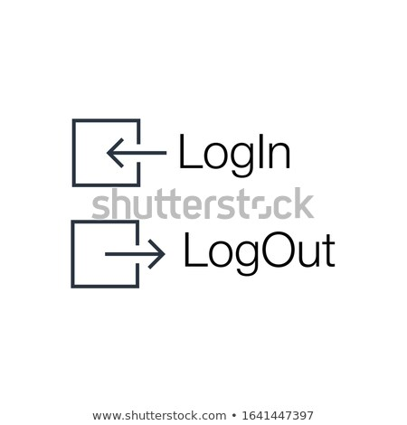 Log in and log out icons set. Can be used for apps, web software development. Stock Vector illustrat Stock photo © kyryloff