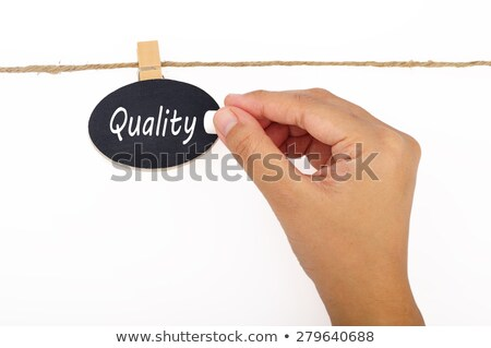 Quality, words hang by wooden peg  Stock photo © Ansonstock
