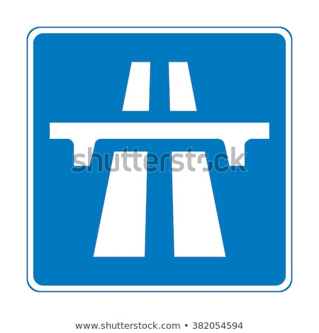 Stok fotoğraf: Avrupa · otoyol · işareti · yeşil · bulut · sokak · imzalamak