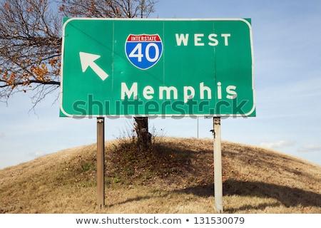 Tennessee znak autostrady zielone USA Chmura ulicy Zdjęcia stock © kbuntu