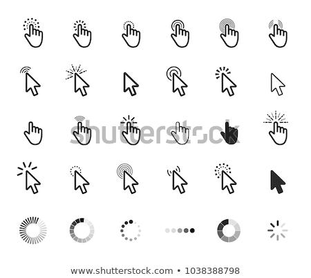 cursor · web · witte · hand · groene - stockfoto © cla78