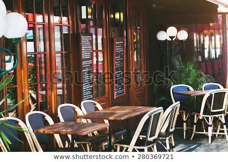 пусто · кафе · терраса · поздно · осень · после · полудня - Сток-фото © ilolab