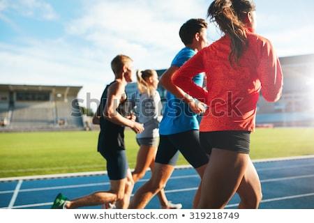giovani · atleta · uomo · guardando · isolato · bianco - foto d'archivio © sapegina
