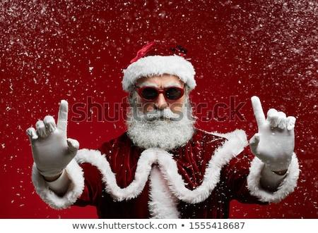 Twardy Święty mikołaj zabawy funny młodych cool Zdjęcia stock © leeser