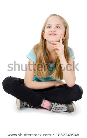 かわいい 十代の少女 青い目 階 美しい 高校 ストックフォト © darrinhenry