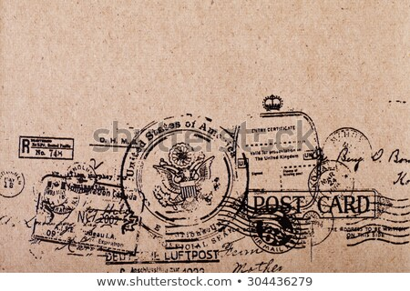 Stock photo: antique post card