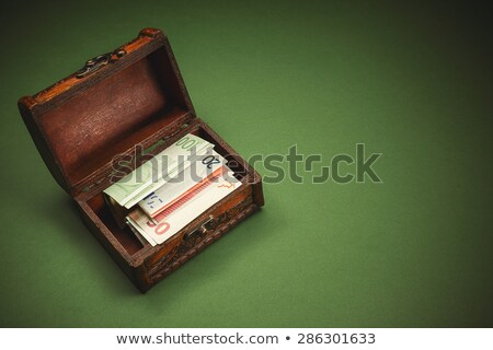 Euro banknotes in suitcase - detail Stock photo © lightkeeper
