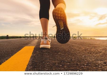 Stockfoto: Lopen · marathon · mensen · straat · sport