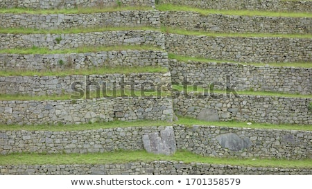 Inca wall Stock photo © alexeys