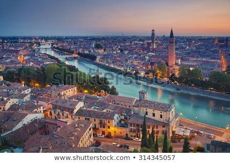 Tower Lamberti in city Verona, Italy Stock photo © vladacanon