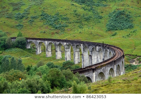 pictorial steam train in Scotland Stock photo © prill