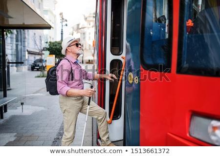 Hombre tranvía verano urbanas trabajador billete Foto stock © photography33