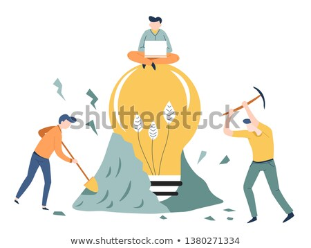 Entrepreneur with pickaxe Stock photo © photography33