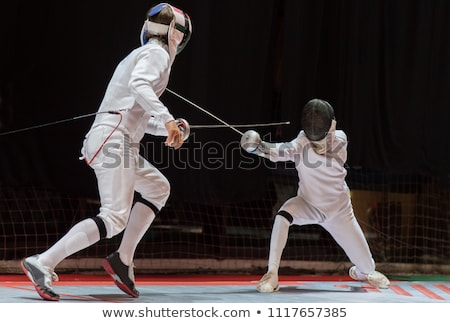 Stock photo: Fencing