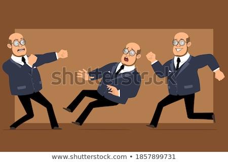 Cartoon professor ready to fight Stock photo © antonbrand