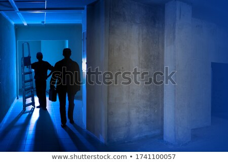 two electricians in a room under construction stock photo © photography33