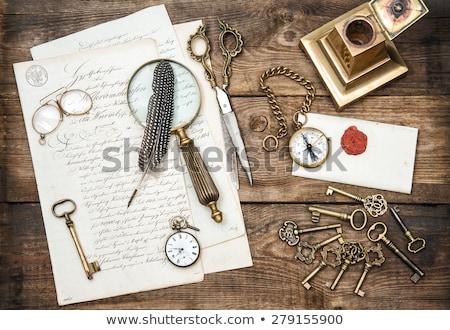 Regarder livre lettre simple icônes écrit Photo stock © jirisolecito