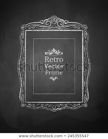 craie · frontière · tableau · vertical · noir - photo stock © 808isgreat