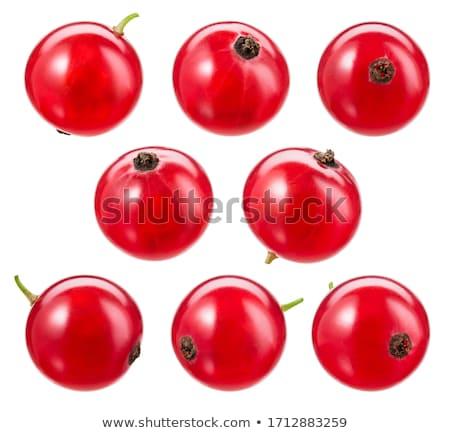 Yalıtılmış kırmızı frenk üzümü meyve taze tatlı Stok fotoğraf © M-studio