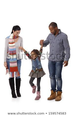 Сток-фото: пару · ходьбы · портрет · ходьбе · черный · молодые