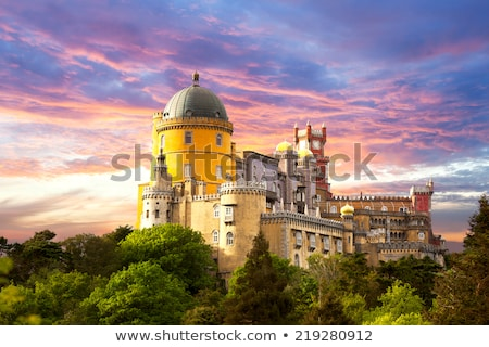 The Pena National Palace In Sintra Portugal Photo stock © Taiga